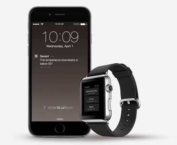Savant Apple iWatch Integrated Alerts